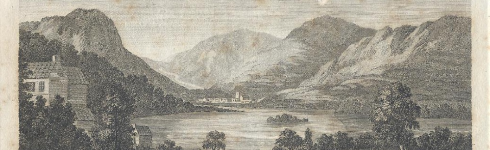 Grasmere, from West's Guide to the Lakes, 1778.  For more images, see Gallery