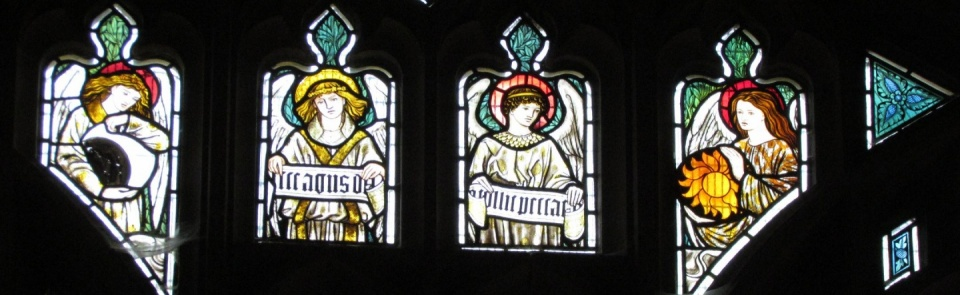 William Morris window panels, Troutbeck Parish Church