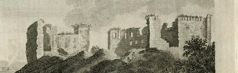 Penrith Castle, from Hutchinson's History of Cumberland 1794.  For more images see Gallery