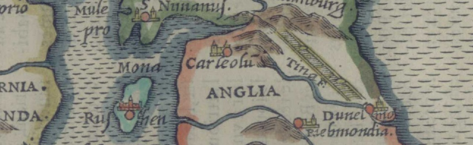 Ruscelli, 1575 - Carlisle and the Roman Wall