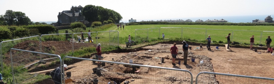 Roman temple excavation, Maryport