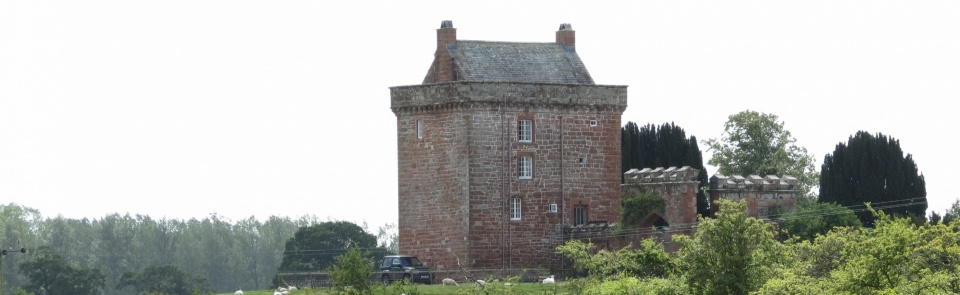 Kirkandrews Tower, stronghold of the Grahams, built c.1530-50