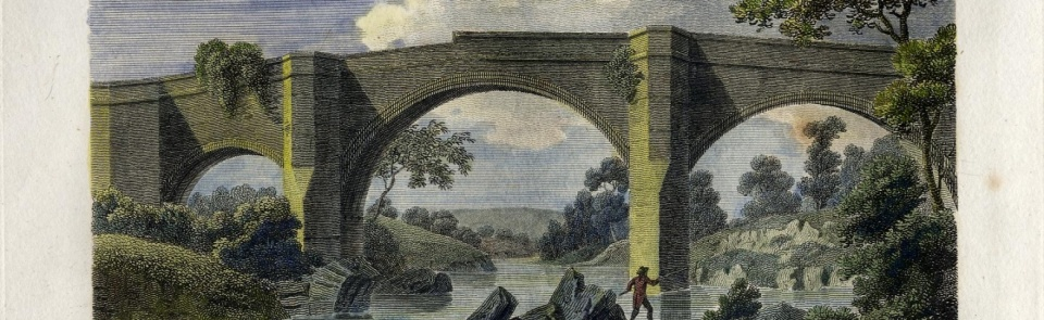 Kirkby Lonsdale Bridge, fom Pennant's Tour to Alston Moor, 1801