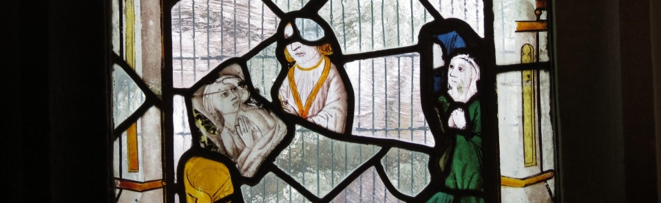 Matrimony, from Sacraments window, Cartmel Fell chapel