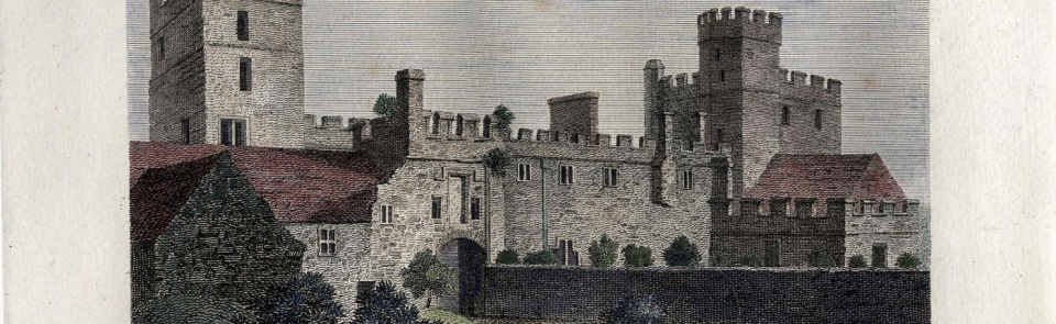 Naworth Castle from Pennant's Tour to Alston Moor, 1801. For more images see Gallery