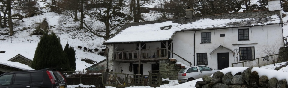 Tilberthwaite.  So-called spinning galleries are a feature of Cumbrian vernacular architecture