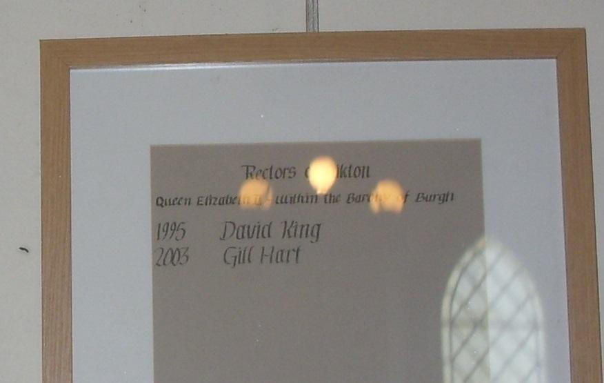 Aikton Clergy since 1995 (image supplied by Stuart Nicholson)