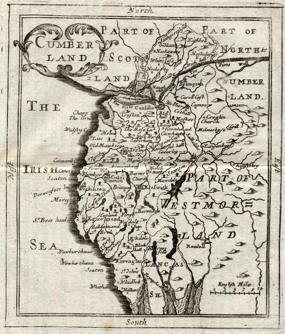 old maps of cumbria gallery