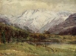 03 The Langdales from Loughrigg Tarn, A Reginald Smith, from W G Collingwood, The Lake Counties 1932