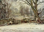 05 Winter, near Skelwith Bridge, A Reginald Smith, from W G Collingwood, The Lake Counties 1932
