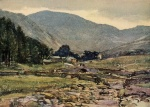 16 Mardale (Evening), A Reginald Smith, from W G Collingwood, The Lake Counties 1932