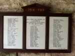 Caldbeck Roll of Honour 1914-1918