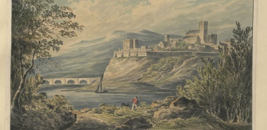 The Town and Cathedral of Carlisle (watercolour, c.1800) (Maps K.Top.10.17.b.)