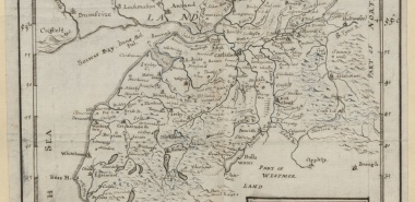 A NEW MAP of CUMBERLAND 1745