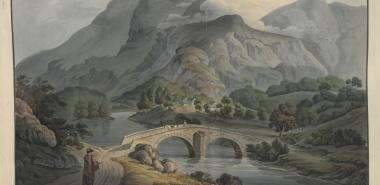 A VIEW OF GRANGE BRIDGE IN BORROWDALE