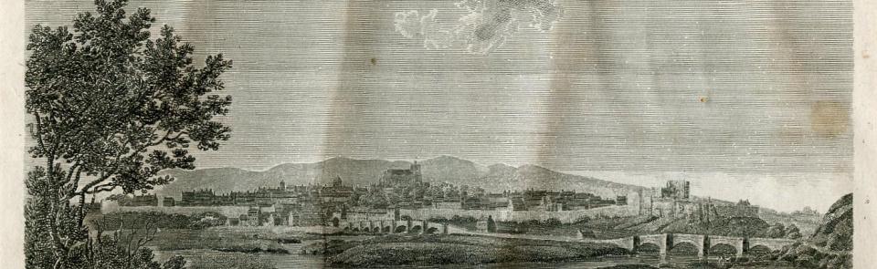Carlisle from Hutchinson's Cumberland 1794