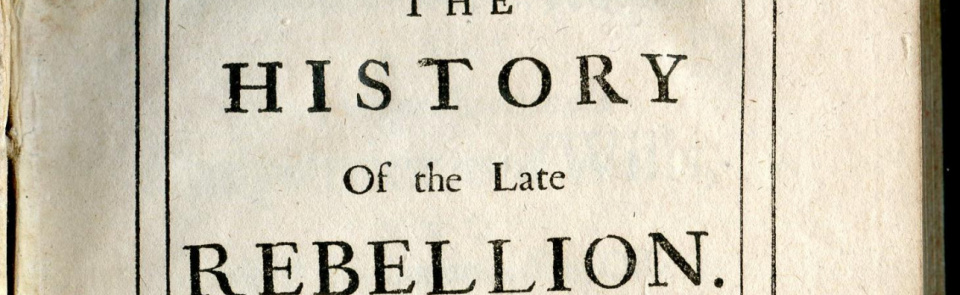 Robert Pattern, The History of the Late Rebellion, 1717