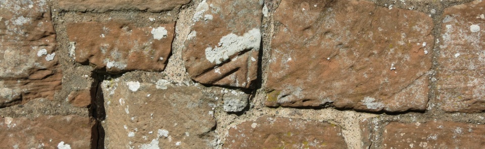 Reused Roman stonework, Old Church, Brampton