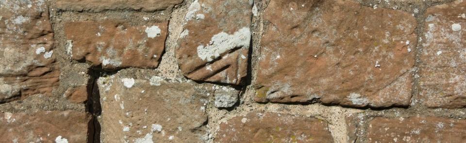 Reused Roman stonework, Old Church, Brampton